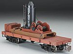 Log Skidder w/Crates On 20' Log Car -- G Scale Model Train Freight Car -- #95699