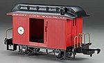 Li'l Big Haulers Baggage Short Line RR Red/Black -- G Scale Model Train Passenger Car -- #97088