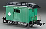 Wood Baggage Car Li'l Big Haulers Short Line Railroad -- G Scale Model Train Passenger Car -- #97092