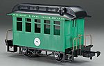 Wood Coach Li'l Big Haulers - Short Line Railroad -- G Scale Model Train Passenger Car -- #97093