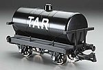 Rolling Stock - Tar Tank Car -- G Scale Model Train Freight Car -- #98009