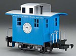 Li'l Big Haulers Caboose Short Line RR Blue/Slver -- G Scale Model Train Freight Car -- #98086