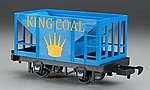Li'l Big Haulers Hopper Car King Coal -- G Scale Model Train Freight Car -- #98091