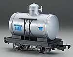 Tank Car Li'l Big Haulers - North Star (silver, blue) -- G Scale Model Train Freight Car -- #98098