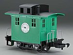 Li'l Big Haulers Caboose Short Line RR Green/Black -- G Scale Model Train Freight Car -- #98099