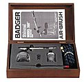 Universal Gravity/Bottom Feed Airbrush Set in Wooden Case -- Model and Hobby Airbrush Set -- #3609