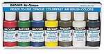 Air-Opaque Paints Primary Set 1oz. Bottles -- Model Airbrush Acrylic Paint Set -- #701s