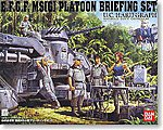 Earth Federation Platoon Brief -- Snap Together Plastic Model Figure -- #148085