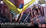 Gundam Real Grade Series- #9 Justice Gundam -- Snap Together Plastic Model Figure -- 1/144 -- #17651