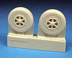 Grumman Guardian AF2S/W Main Wheels (Resin) -- Plastic Model Aircraft Accessory -- 1/48 -- #48261