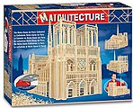 Notre Dame Cathedral (Paris, France) (7500pcs) -- Wooden Construction Kit -- #6636