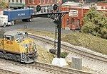 Double-Track Cantilever Signal Bridge -- N Scale Model Railroad Trackside Accessory -- #1020