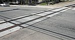 Concrete Grade Crossing (Plastic) -- HO Scale Model Railroad Road Accessory -- #4105