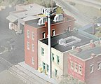 Cell Phone Antenna Tower Kit -- Z Scale Model Railroad Building Accessory -- #8101