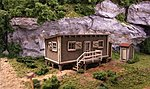 Joe's Cabin w/Outhouse - Laser-Cut Wood Kit -- N Scale Model Railroad Building -- #1000