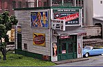 Green Door Lounge Kit -- N Scale Model Railroad Building -- #1008