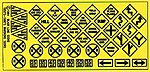 Highway Signs - Warning #2 1948-Present -- HO Scale Model Railroad Roadway Accessory -- #106