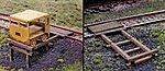 Handcar Set-Off Kit (Laser Cut Wood) pkg(3) -- HO Scale Model Railroad Building -- #124