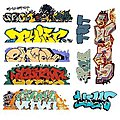Mega Set Modern ''Tagger'' Graffiti Decals - #6 pkg(9) -- N Scale Model Railroad Decal -- #1249