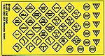 Highway Signs Vintage Warning/Stop 1930s-1950s -- HO Scale Model Railroad Roadway Sign -- #143