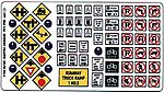 Highway Signs - Modern Traffic 1971-Present -- HO Scale Model Railroad Roadway Accessory -- #147