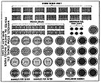 Manhole Covers & Storm Drains Decals -- HO Scale Model Railroad Roadway Accessory -- #162