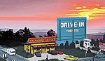 Drive-In Theatre - Kit -- HO Scale Model Railroad Building -- #168