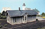 Chesapeake & Ohio Depot - Standard #1 Design Kit -- HO Scale Model Railroad Building -- #185