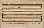 Wood Grade Crossing Kit Rough-Cut Two Lane pkg(2) -- N Scale Model Railroad Accessory -- #20
