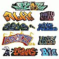 Graffiti Decals Mega Set - #2 pkg(9) -- HO Scale Model Railroad Decal -- #2245