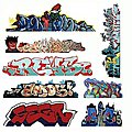 Graffiti Decals Mega Set - #3 pkg(8) -- HO Scale Model Railroad Decal -- #2246