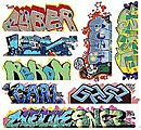 Graffiti Decals Mega Set - #12 (8) -- HO Scale Model Railroad Decal -- #2261