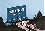 Drive-In Theatre -- N Scale Model Railroad Building -- #68