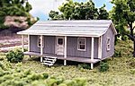 Company House (2-1/4 x 1-1/2'' 5.6 x 3.75cm) -- N Scale Model Railroad Building -- #76