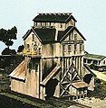 Cash Mine Works Ore House Kit -- N Scale Model Railroad Building -- #86