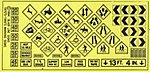 Warning Signs #1 -- HO Scale Model Railroad Billboard Sign -- #105