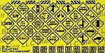 Warning Signs #4 -- HO Scale Model Railroad Billboard Sign -- #110