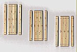 1-Lane Wood Grade Crossing (3) -- HO Scale Model Railroad Trackside Accessory -- #133
