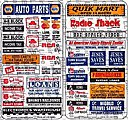 Modern Storefront Signs -- HO Scale Model Railroad Building Accessory -- #150