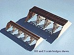 Wood Trestle Kit -- HO Scale Model Railroad Bridge -- #167