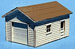 One-Car Garage Kit -- HO Scale Model Railroad Building -- #173