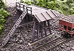 Wooden Truck Dump Kit -- HO Scale Model Railroad Building Accessory -- #177