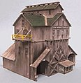 Cash Mine Works Building Kit with Loading Bays -- HO Scale Model Railroad Building -- #186