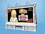 City Beautiful Billboard Kit w/4 Different Signs -- HO Scale Model Railroad Billboard Sign -- #2430