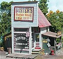 Buster's Barber Shop - Laser-Cut Wood Kit -- O Scale Model Railroad Building -- #164