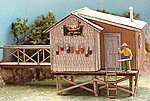 The Fishing Shack At Cozy Cove - Kit -- HO Scale Model Railroad Building -- #662
