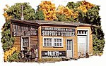 Revelia Shipping & Storage - Kit -- HO Scale Model Railroad Building -- #722