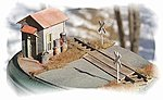 Twin Crossing Shacks (2) -- HO Scale Model Railroad Building -- #792