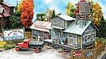 Mooney's Plumbing Emporium - Laser-Cut Wood Kit -- N Scale Model Railroad Building -- #821