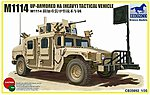 M1114 Up-Armored Heavy Tactical Vehicle -- Plastic Model Humvee Kit -- 1/35 Scale -- #35092